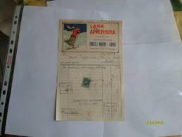 1932 LANA APPENINA Marca Ski Fratelli Marino Napoli Via Roma Via Duomo Via Museo Splendida Grafica - Italia