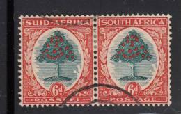 South Africa Used Scott #59 Horizontal Pair 6p Orange Tree - Oblitérés
