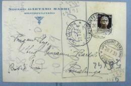 ITALIA REGNO 1930 SIENA CP CON ANNULLI SINALUNGA MONTEFOLLONICO LUCIGNANO STAZ - X1 - Storia Postale