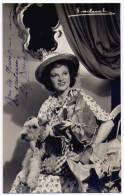 Autographe de Lily Bourget : Actrice de th��tre