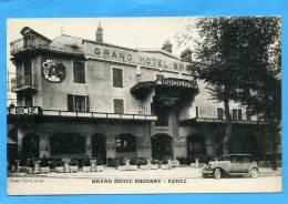 RODEZ GRAND HOTEL BROUSSY VUE EXTERIEURE CARTE PUBLICITAIRE VERS 1925 CARTE EN SUPERBE ETAT - Hotels & Restaurants