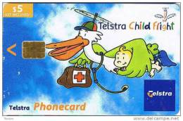 Australia, AUS-CN-02011 , $5, Telstra Child Flight, Red Cross, Pelican (Exp.Jan´05), - Australia