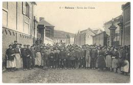 80 SALEUX - SORTIE DES USINES 1915 - Autres Communes