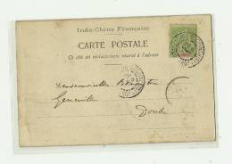 CPA  Déchargement Du Radeau De Bambous -  Tonkin Ligne PAQ.l'Extréme-Orient     1904