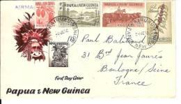 LETTRE    PAPUA ET NEW GUINEA    AIR MAIL  1958 - Guinée (1958-...)