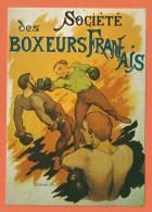 S294, Repro Affiche, Société Des Boxeurs Français, S 7, Non Circulée - Boxing