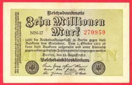 Germany  -  1 Million Marks  - EF+/AU - Banknote - 1923 / Papier Monnaie - Billet Allemagne - 1 Million Mark