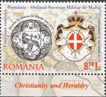 2012 - ROMANIA - CRISTIANESIMO ED ARALDICA - EMISSIONE CONGIUNTA CON S.M.O.M. - JOINT ISSUE WITH S.M.O.M. MNH - Emissioni Congiunte