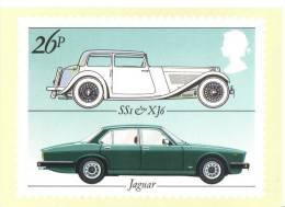 British Motor Cars  -  Jaguar SS1 - Jaguar XJ6    -   Stamp Card - Turismo