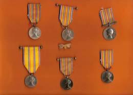 France/lot De Six Médailles Et Un Insigne/Sapeurs Pompiers/ Ministére De L´Intérieur/Vers 1900   D 106 - Non Classés