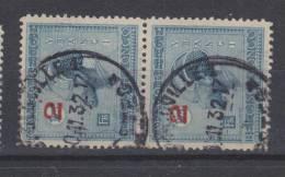 COB 161en Paire - 1923-44: Usati