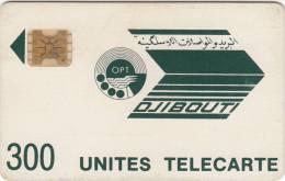 DJIBOUTI - Telecom Logo, First Issue 300 Units, CN : 8719, Tirage %32000, Used - Djibouti