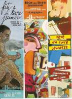 3 MARQUE-PAGES FÊTE DU LIVRE JEUNESSE DE VILLEURBANNE - 2004/2005/2006 - - Marque-Pages