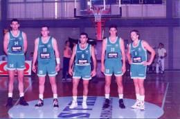 Greece.Basketball Team. PANATHINAIKOS.(Vrancovitsch,Miriounis,Galis,Komazetc,Sok).10X15cm. - Sports