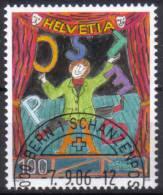 Zu 1212 / Mi 1985 / YT Cirque Dimitri Obl. 1er Jour - Switzerland