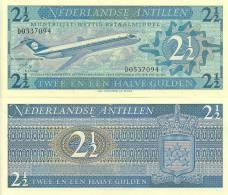 Netherlands Antilles P-21a, 2 1/2 Gulden, Douglas DC-9 Jetl $17+CV! - Bankbiljetten