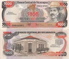 Nicaragua P-157, 5,000 Cordoba, General Benjamin Zeledon / Nat´l Assembly Bldg - Nicaragua