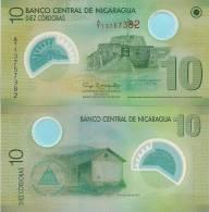 Nicaragua P-201b, 10 Cordobas, Castle / Hacienda POLYMER - Nicaragua