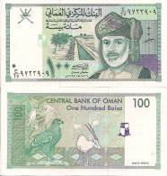 Oman P-31c, 100 Baisa, Sultan Qaboos, Irrigation Canal / White Oryx, Eagle $4CV! - Oman
