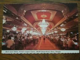 MGM Grand Hotel Black Jack Tables World's Largest Casino / Anno 19?? ( Zie/voir Foto Voor Details ) !! - Reno