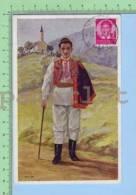 """Used In 1938 Croatie Zagreb (Nosta Rojc """"hrvatska Narodna Nosnja Sestine  )  Postcard Carte Postale - Croatie"""