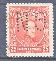 Venezuela 277   Perf  12 1/2  PERFIN   (o) 1924-39 Issue - Venezuela