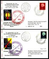 Niederlande / The Netherlands: 'Raketenpost Oldenzaal - HOG Vignetten, 1967' / 'Rocket Mail - Space Flight Symposium' - Brieven & Documenten