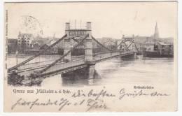Mülheim A.d.Ruhr S/w Gel.1904 Kettenbrücke - Mülheim A. D. Ruhr