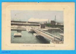 SÈTE / CETTE (Hérault) LA GARE ET LE NOUVEAU PONT TOURNANT.  - 1913 - - Sete (Cette)