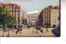 Cart Colori  Ginevra  (Svizzera ) Le Rue Du Mont Blanc - GE Geneva