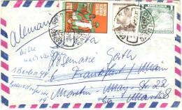 Lettre De Santiago à Frankfurt A Main / Berlin De Sep 1968 Avec Timbres Laguna Del Inca Et Reforma Agraria Chilena - Chili