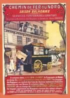 S301, Repro Affiche, Chemin De Fer Du Nord, Calèche, Factage, Post, Saison Balnéaire, I 2, Non Circulée - Cartoline