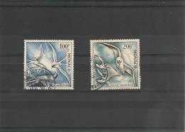 MONACO P.A. Année 1955  N° Y/T : 55/56 Oblitérés Côte : 29,00 € - Poste Aérienne