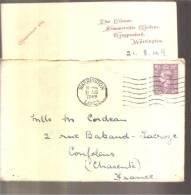 Enveloppe & Document 1949 Tampon Warrington - 1902-1951 (Rois)