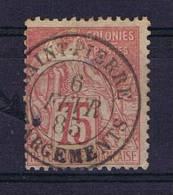 Colonies Francaises: Yv 58 St. Saint-Pierre In Martinique, Petit Trou De Chachet, Tinny Hole By Cancel, At Arrow Point