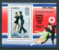 COREA DEL NORD / KOREA NORTH 1980** - Olimpic Winter Games 1980 - Block MNH Come Da Scansione - Hiver 1980: Lake Placid