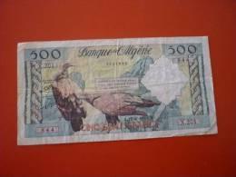 ALGERIE : 500 FRANCS 1958. TTB - Algeria