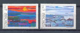 MR153 KUNST SCHILDERIJEN ART PAINTINGS COLLAGES Ansichten Von Tórshavn FOROYAR FAROËR 1987 PF/MNH - Arts