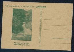 Korespondu En Esperanto. Akvofalo En Kanjono VINTGAR Apud Bled - Slovenië