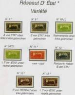 Colis Postaux  N°9a-e  Réseau D'Etat *mit Falz,  In Variationen Und/oder Kleinen Fehler/dans Les Variations Et /ou Ereur - Colis Postaux