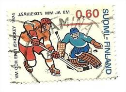 1974 - Finlandia 711 Mondiali C2084, - Hockey (su Ghiaccio)