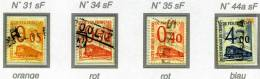 Colis Postaux  4 Briefmarken Der Serie: Petit Colis Sans Filigran (ohne Wasserzeichen) Gestempelt, - Colis Postaux