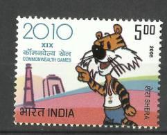 INDIA, 2008, XIX Commonwealth Games, With Shera The Mascot,  MNH,  (**) - Francobolli