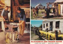 3-views,  Blacksmith And Fraser House,  Lower Fort Garry,  Manitoba,  Canada,  50-70s - Other