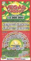 ITALIA - ITALY - LOTTERIA ISTANTANEA - LOTTERY TICKET - GRATTA E VINCI - VEGAS CASINO'  - € 10,00 - Lottery Tickets