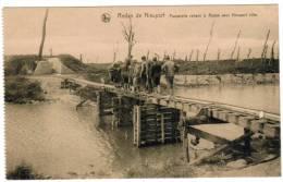 Nieuwpoort, Nieuport, Ruines 1914-18 Passerelle Reliant Le Redan Avec Nieuport Ville (pk8499) - Nieuwpoort