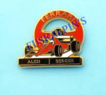 Pin´s Formule 1 , FERRARI F1 1995 , ALESI , BERGER ,  Formula One ,  Race Cars, Pin's En Zamac - F1