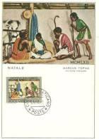 VATICAN. La Nativité En Inde. Une Carte-maximum - Christmas