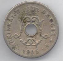 BELGIO 10 CENTS 1905 - 1865-1909: Leopoldo II