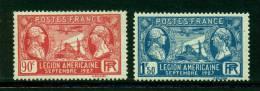 France 1927 Catalogue Yvert 244/245* - France